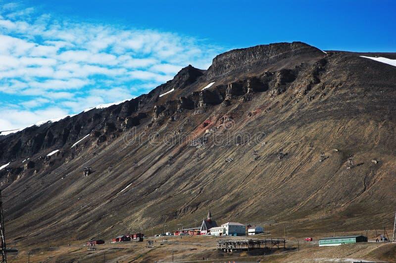 Bergen in Spitsbergen, Svalbard, Noorwegen stock foto's