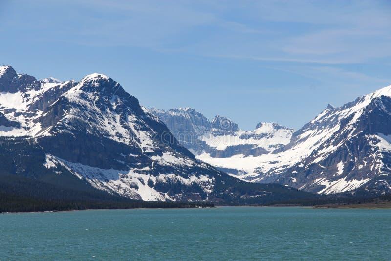 Bergen van het de Gletsjer de Nationale Park van meersherburne royalty-vrije stock afbeeldingen