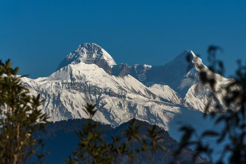 Bergen van Himalayagebergte, India stock afbeelding
