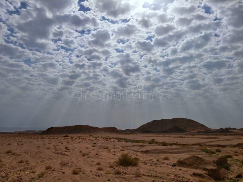 Bergen van Ras Mohamed Resort, Sinai, Egypte royalty-vrije stock foto