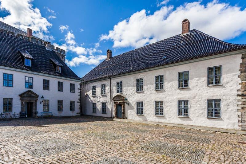 Bergenhus堡垒 库存图片