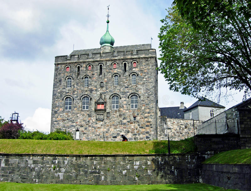 Bergenhus à Bergen (Norvège) photos stock