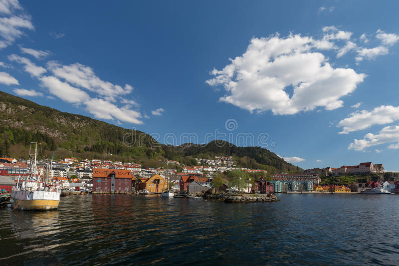 Bergenhus waterfront, Bergen, Norway royalty free stock photo