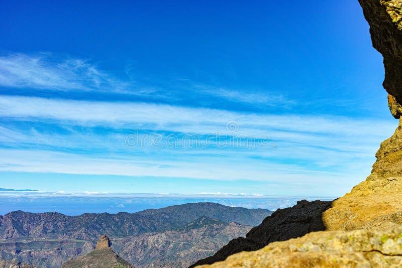 Bergenlandschap op Gran Canaria-eiland, Kanarie, Spanje stock fotografie