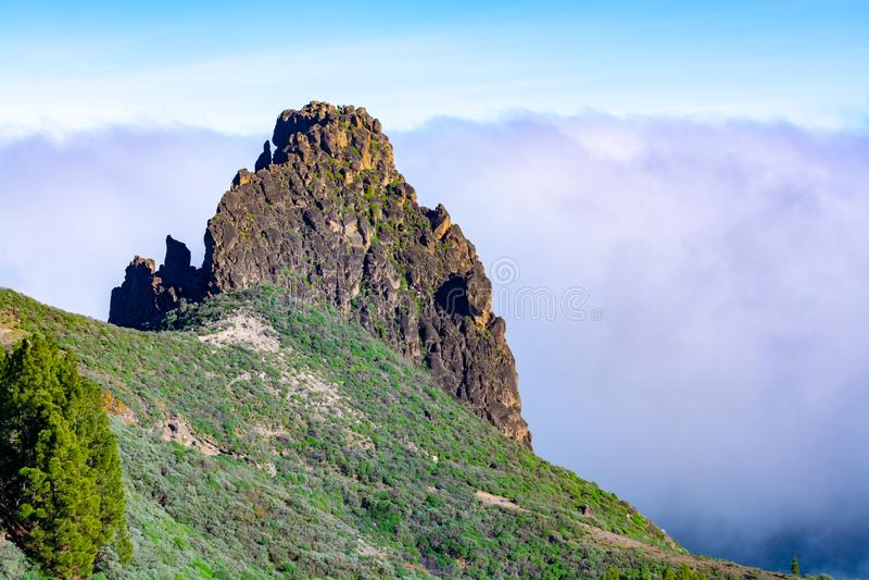 Bergenlandschap op Gran Canaria-eiland, Kanarie, Spanje stock afbeelding