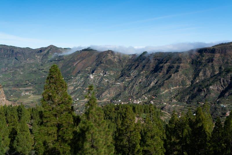 Bergenlandschap op Gran Canaria-eiland, Kanarie, Spanje royalty-vrije stock foto