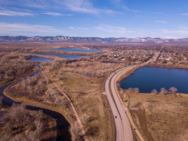 Bergenmening van Zuid-Denver stock afbeeldingen