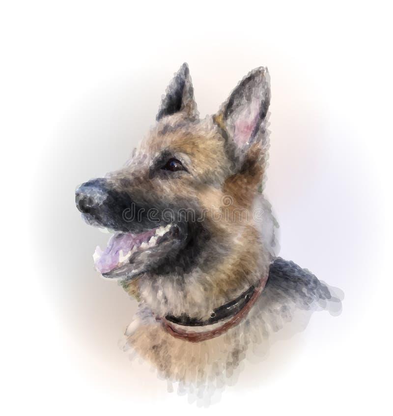 Berger allemand Dog illustration de vecteur