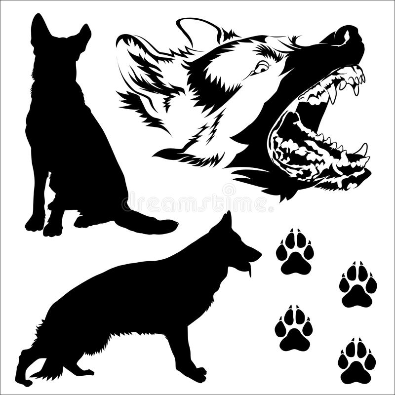 Berger allemand Dogs illustration stock