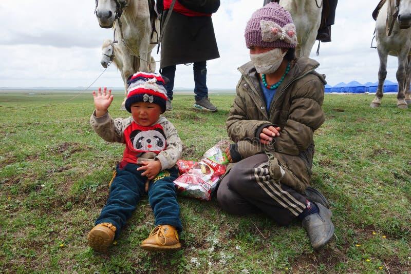Bergers tibétains images libres de droits