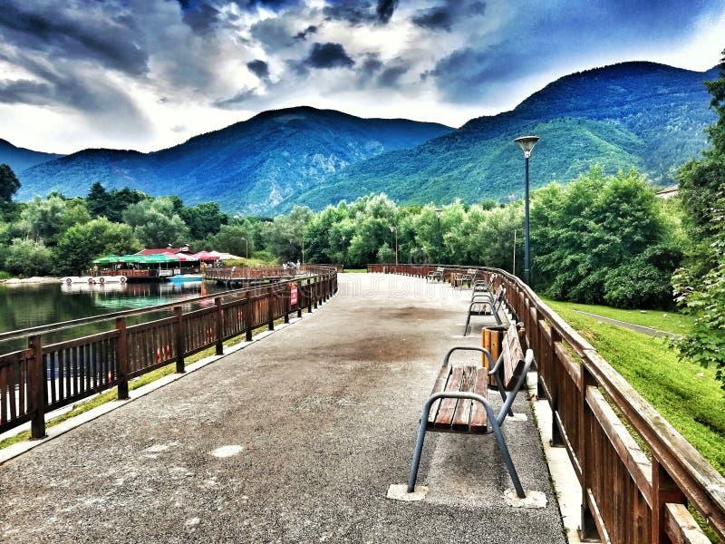 Berget parkerar Rila, Dupnitsa, Bulgarien royaltyfri foto