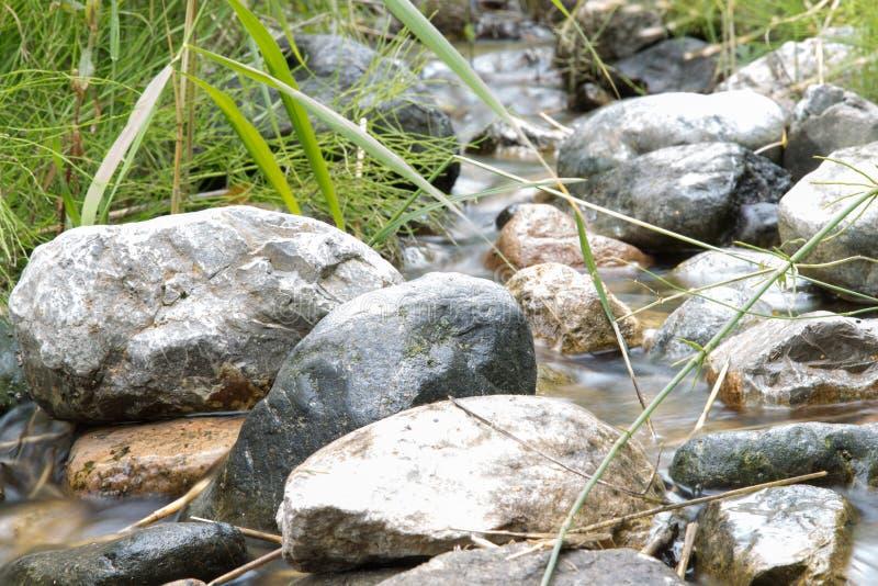 Bergflod i natur royaltyfria bilder