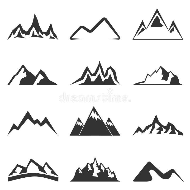 Bergformer för logoer royaltyfri bild