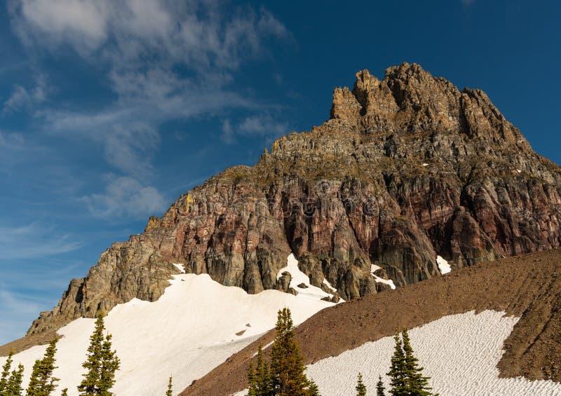 Berggeit op Clements Mountain stock afbeelding