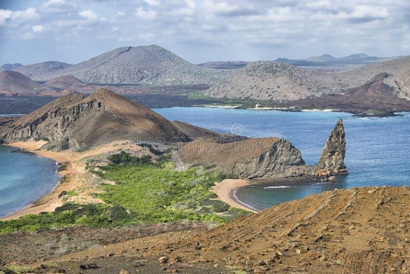 Berggipfel-Felsen, Galapagos-Insel-Landschaft lizenzfreies stockbild