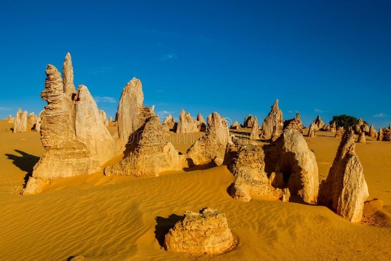 Berggipfel-Wüste an Nationalpark Nambung, West-Australien, Au stockbilder
