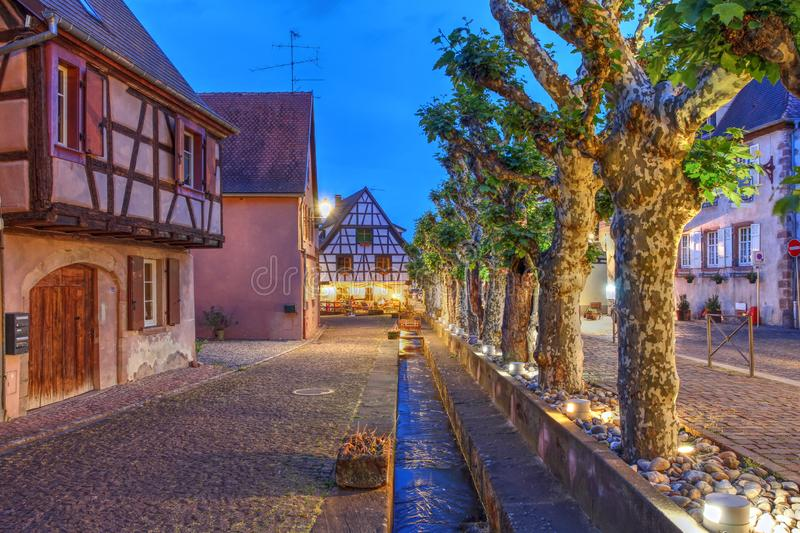 Bergheim, Alsace, France stock images