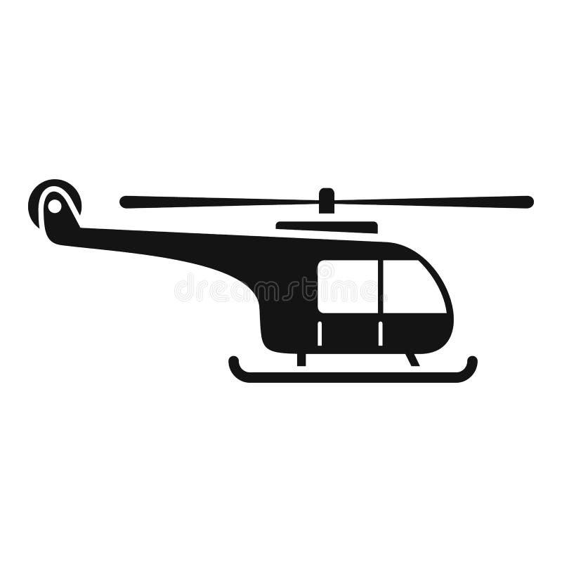 Berghelikoptersymbol, enkel stil royaltyfri illustrationer