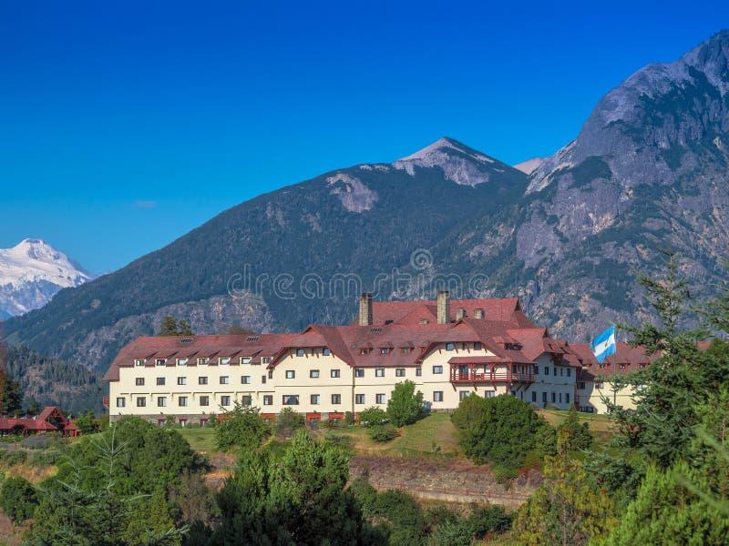 Berghotel royalty-vrije stock fotografie