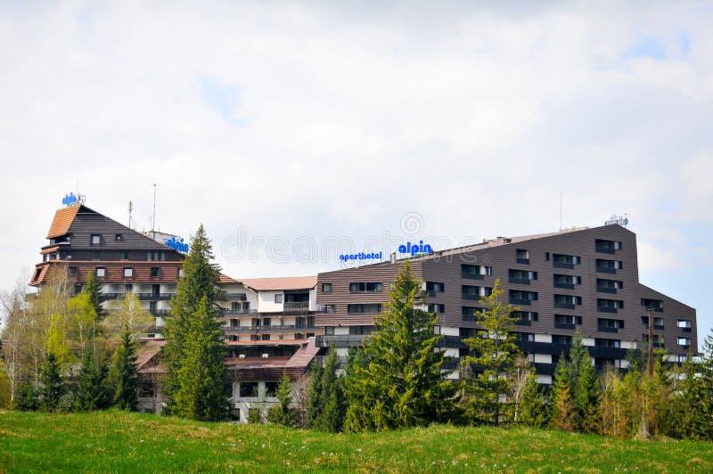 Berghotel royalty-vrije stock afbeelding