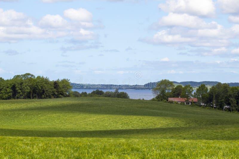 Bergig landskapfredensborg Danmark arkivfoton