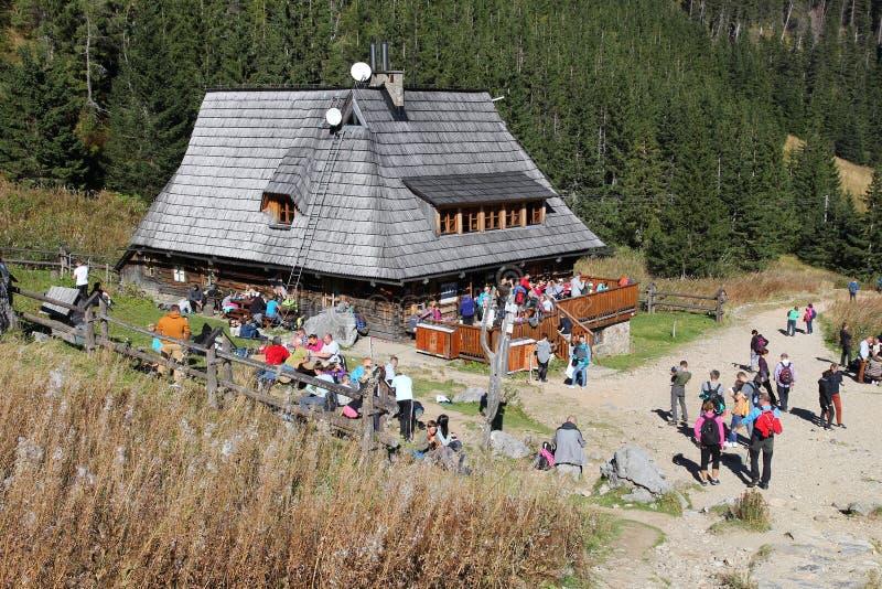 Bergkabin i Polen royaltyfria foton