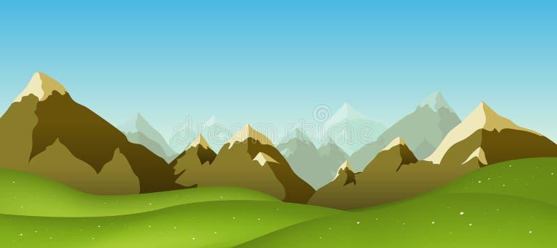 Bergketen vector illustratie