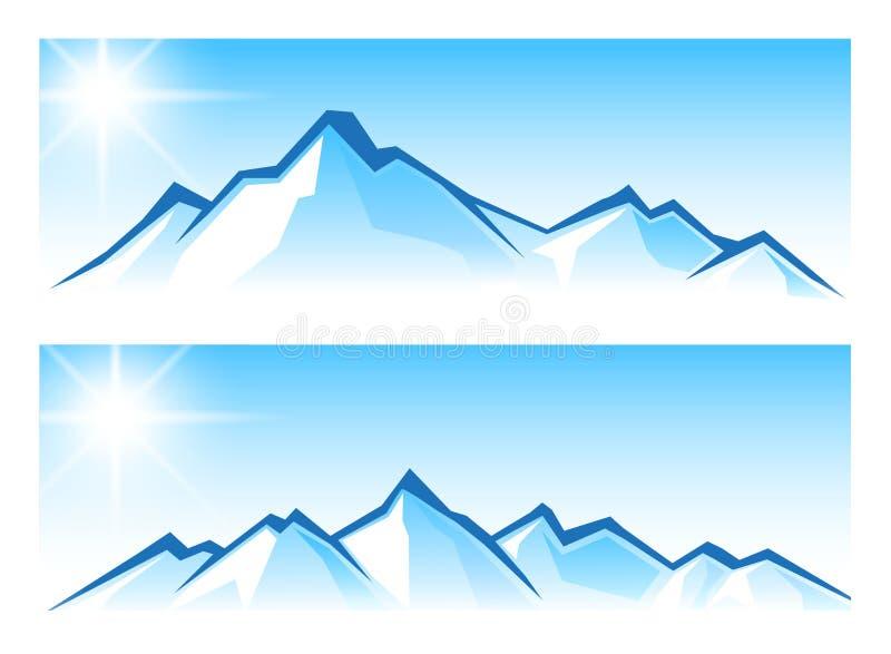 Bergketen royalty-vrije illustratie