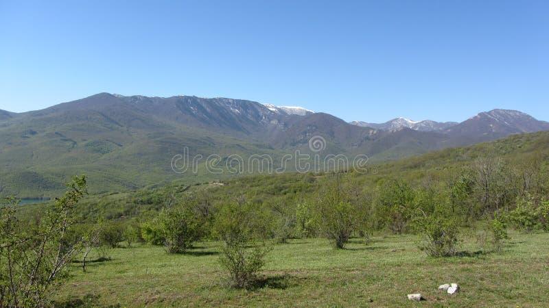 Bergketen Babugan, de Krim royalty-vrije stock foto