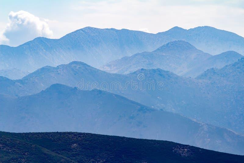 Bergketen, het Eiland van Kreta, Griekenland stock fotografie