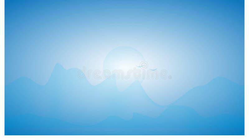 Bergketen met blauwe toon royalty-vrije stock fotografie