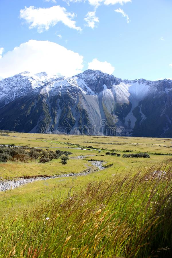 Bergketen in Nieuw Zeeland stock foto's