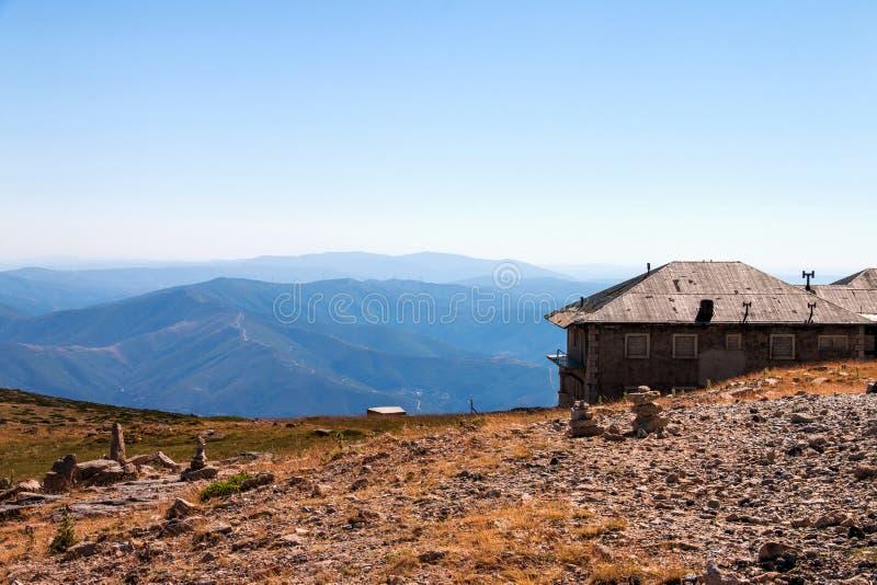 Bergketen in Portugal royalty-vrije stock foto's