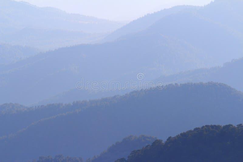 Bergketen, Troodos, Cyprus royalty-vrije stock afbeelding