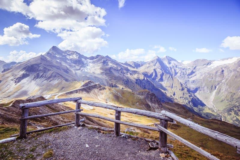 Bergketen van Großglockner, Oostenrijk, Nationaal Park Hohe Tauern royalty-vrije stock afbeeldingen