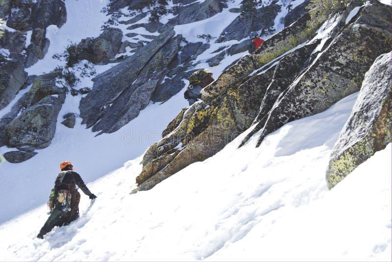 Bergklättrare royaltyfri foto