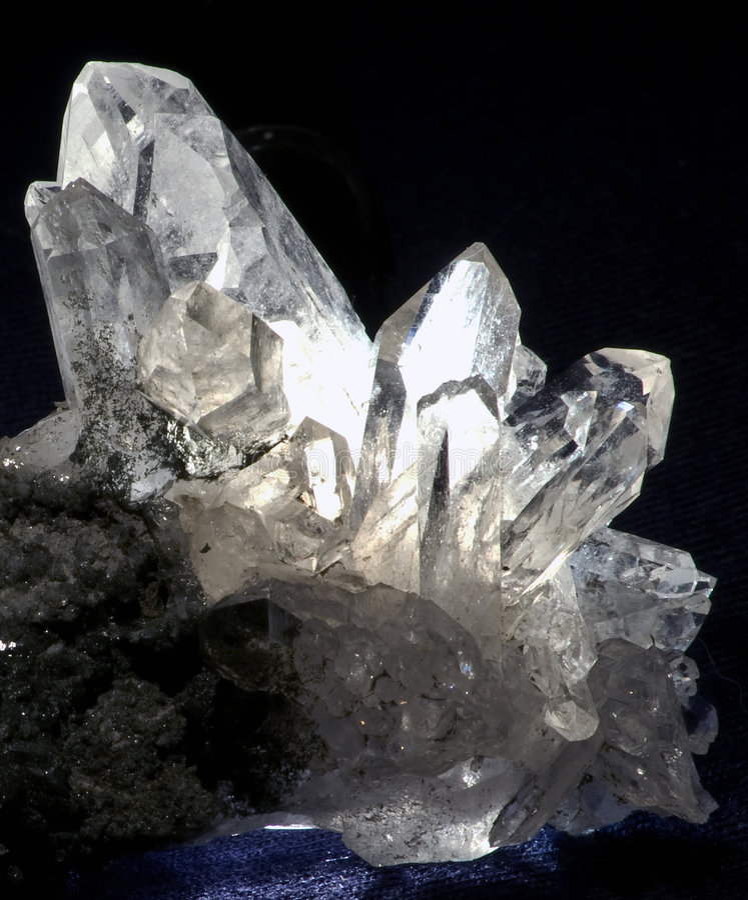 bergkristall quarz 免版税库存图片