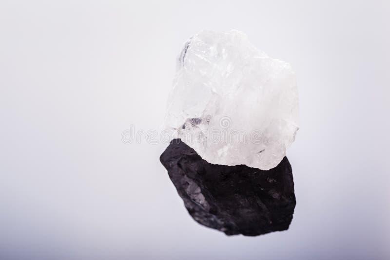 Bergkristallmakro stockfotografie