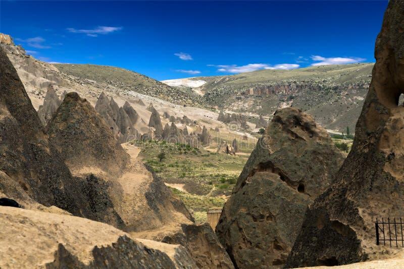 Berglandschaft in Cappadocia, die Türkei stockfoto
