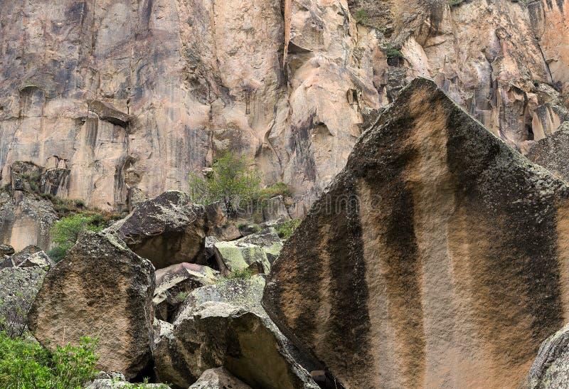Berglandschaft in Cappadocia, die Türkei stockfotos