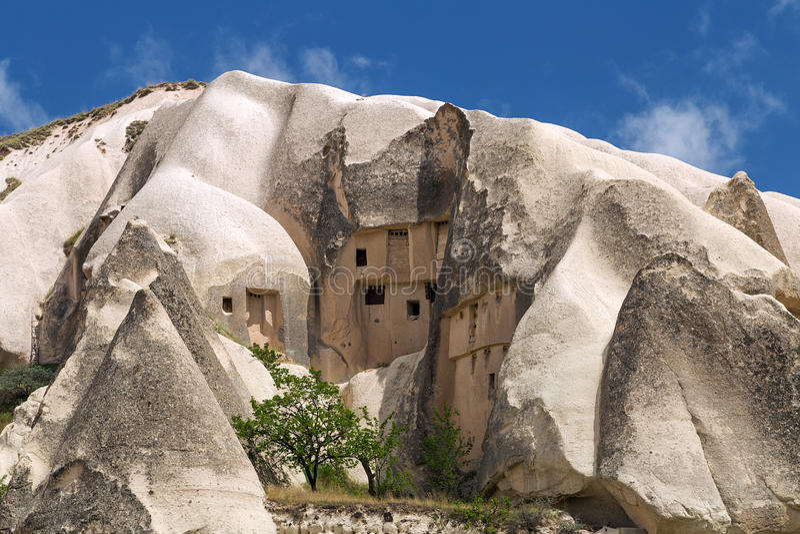 Berglandschaft, Goreme, Cappadocia, die Türkei stockbilder