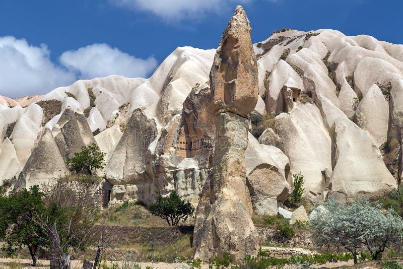 Berglandschaft, Goreme, Cappadocia, die Türkei lizenzfreies stockfoto