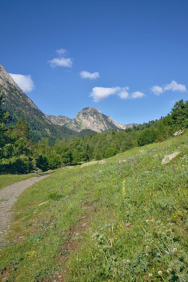 Berglandschaft im Park von Aiguestortes lizenzfreie stockbilder