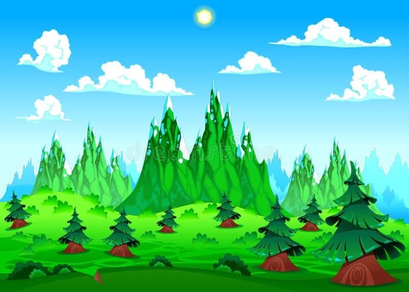 Berglandschap. vector illustratie