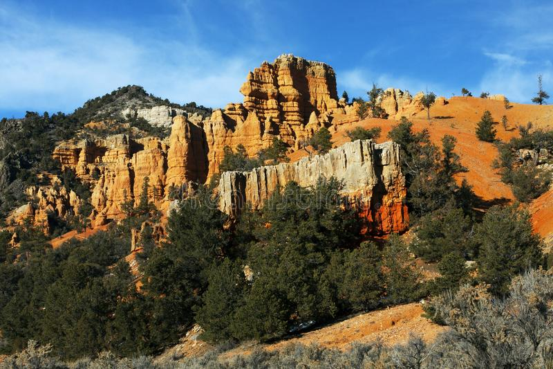 Berglandschap in Bryce Canyon National Park, Utah royalty-vrije stock foto