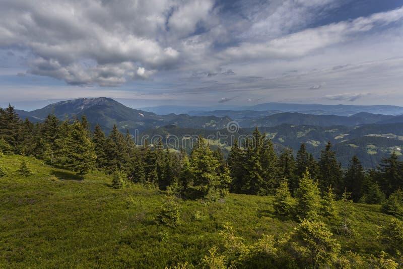 Berglandschap in Carinzia stock fotografie