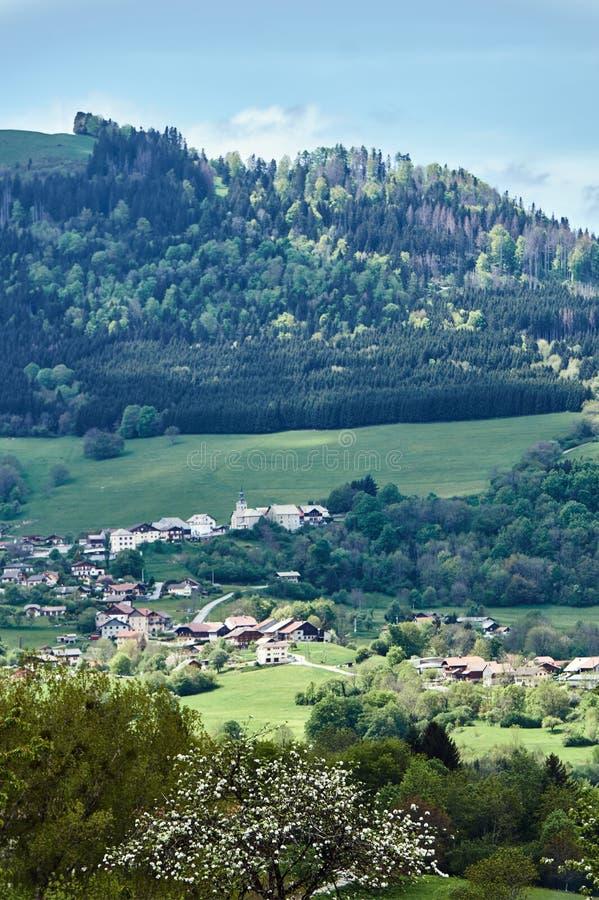 Berglandschap in de Alpen royalty-vrije stock afbeeldingen