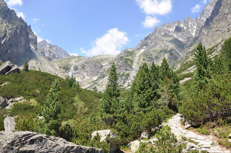 Berglandschap Hoge Tatras royalty-vrije stock fotografie