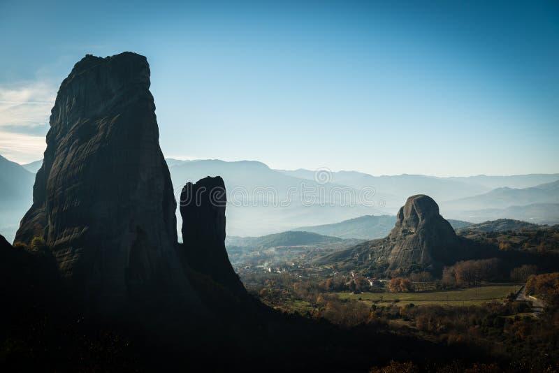 Berglandschap in Meteora, Griekenland stock fotografie
