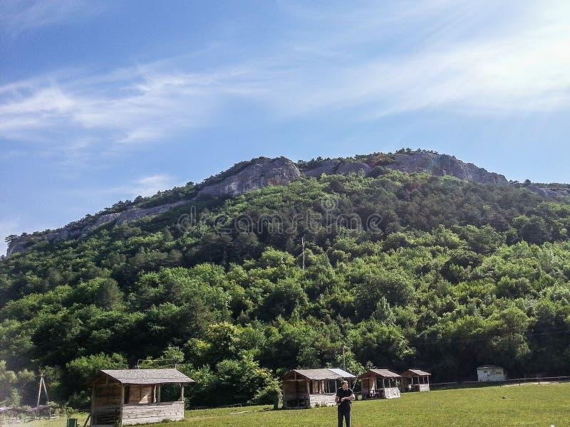 Berglandschap op het Schiereiland van de Krim stock foto's